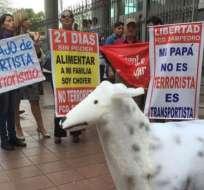 El incidente ocurrió en una movilización contra las enmiendas constitucionales realizada en Guayaquil, en 2015. Foto Ilustrativa/Archivo.