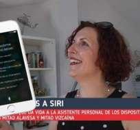 Iratxe Gómez es la mujer vasca que le da vida a la popular voz de iPhone. Foto: Tomado de EiTB.