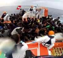 Solo dos nigerianos y dos sudaneses fueron rescatados por pesqueros libios. Foto: Ilustrativa