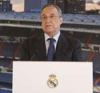 El presidente 'merengue' asegura que no ha hablado con Zidane ni con nadie sobre ellos. Foto: Archivo