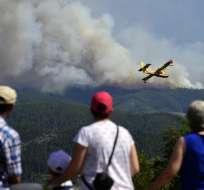 PORTUGAL.- Ese país fletó dos aviones de lucha contra incendios, según el vocero. Foto: AFP