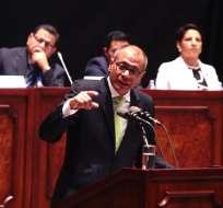 """QUITO, Ecuador.- Según dijo el vicepresidente, de la investigación global surgió que """"Glas no tiene nada"""". Foto: API"""