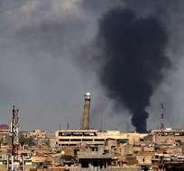 BAGDAD, Irak.- Imagen del minarete de la histórica mezquita Al Nuri el pasado 17 de abril. Foto: AFP.