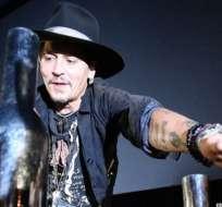 """""""Esto va a salir en la prensa y será horrible"""", dijo el actor Johnny Depp en el Festival de Glastonbury, en Reino Unido."""