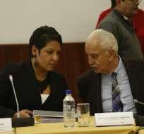 QUITO, Ecuador.- El extitular de la Fiscalía comparece ante la Comisión de Fiscalización de la Asamblea. Foto: API
