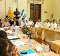 GUAYAQUIL, Ecuador.- El consejo también estableció un plazo de 15 días para que la Seted presente una propuesta para mejorar el control de tráfico de drogas al menudeo. Foto: Twitter Ministerio de Interior.