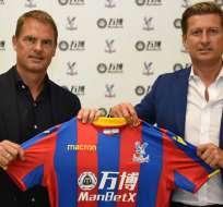 Frank De Boer llega como nuevo DT del Crystal Palace a la Premier League inglesa.