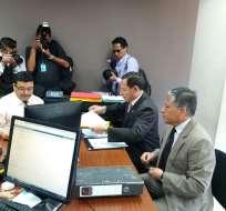 La acción fue presentada por César Carrión, asambleísta de la alianza CREO-SUMA. Foto: Tomado de Twitter Diario El Mercurio.