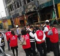 PERÚ.- Las autoridades presumen que eran encerrados en ese contenedor hasta que finalizaba la jornada laboral. Foto: Ministerio de Justicia de Perú
