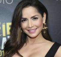 La actriz colombiana de 33 años aparece con el mismo look que lució Catalina, su personaje. Foto: Redes