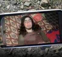 Esta es una de las fotos que había en la tarjeta de memoria hallada en el cuerpo de uno de los combatientes de Estado Islámico.
