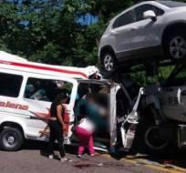 COLOMBIA.- Las seis personas heridas fueron enviadas a distintos centros hospitalarios de Barrancabermeja. Foto: Twitter