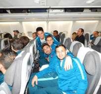 El plantel de San Lorenzo emprendió el viaje que lo trasladará a Guayaquil, Ecuador.