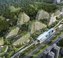 Todos los edificios tendrán plantas y árboles.