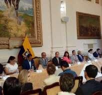 GUAYAQUIL, Ecuador.- El ente público-privado se fijó como meta presentar su primera propuesta en 90 días. Foto: Vicepresidencia de la República