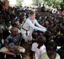 BLANTYRE, Malawi.- La estrella pop adoptó a 4 de sus hijos en ese país. Foto: AFP.
