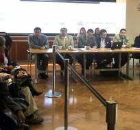QUITO, Ecuador.- La jueza dispuso para ambos procesados la colocación de brazaletes electrónicos y que se presenten periódicamente. Foto: API