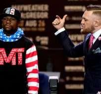 Mayweather y McGregor pelearán el próximo 26 de agosto.