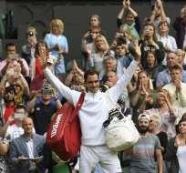 Roger Federer jugará su décimoprimera final de Wimbledon este domingo. Foto: AFP