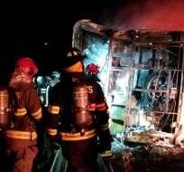 ECUADOR.- Las autoridades de Gobierno informaron de la suspensión total de la cooperativa La Maná, bus involucrado en el accidente. Foto: Twitter