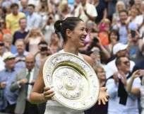 Garbiñe Muguruza consiguió su segundo título de Grand Slam. Foto: AFP