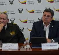 Autoridades del Ministerio del Interior y Policía Nacional expusieron Informe de Seguridad. Foto: @MinInteriorEc