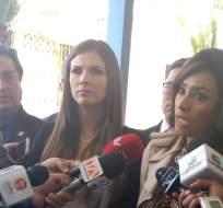 QUITO, Ecuador.- Las comparecencias de las legisladoras se dan un día después del archivo del pedido de juicio político a Glas. Foto: Twitter Jeannine Cruz