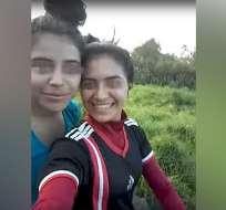 El video muestra los últimos instantes de vida de dos adolescentes paraguayas. Foto: captura de video