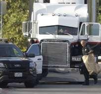 EE.UU.- El conductor del camión de carga tiene previsto comparecer este mediodía ante un Tribunal de Texas. Foto: AP