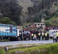 El primer choque ocurrió en Colta, mientras que el segundo en Palmira. Foto: Cortesía