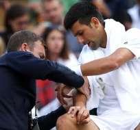 La lesión en el codo derecho obligó a Novak Djokovic ponerle fin a la temporada 2017.