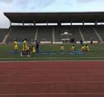 La selección de Ecuador entrenó en el estadio Chirstian Benítez de cara al amistoso con Trinidad y Tobago.