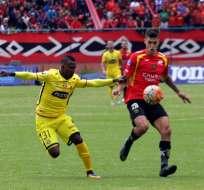 Deportivo Cuenca superó por la mínima diferencia a Barcelona en el Alejandro Serrano Aguilar.