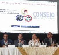 PORTOVIEJO, Ecuador.- En la reunión se destacó la necesidad de inversión en sectores productivos. Fotos: Twitter Ministerio de Comercio Exterior.