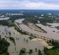 Desde hace varias semanas, más de un millón de tailandeses fueron afectador por lluvias. Foto: AFP