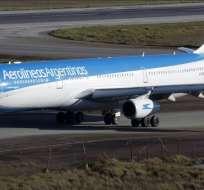 """ARGENTINA.- Aerolíneas Argentinas decidió cancelar por razones """"operativas y de seguridad"""" su único vuelo semanal a Caracas. Foto: Archivo"""