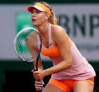 La rusa María Sharapova tuvo que retirarse del torneo de Stanford por lesión.
