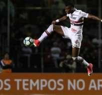 El ecuatoriano Robert Arboleda actuó los 90 minutos en la derrota del Sao Paulo.