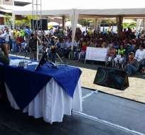 Reveló que conocía en junio informe de responsabilidad penal de bloque Singue. Foto: Twitter Rafael Correa
