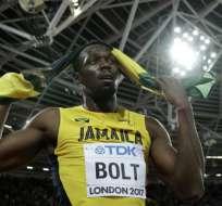 Usain Bolt quedó en el tercer lugar en la prueba de 100 metros planos del Mundial de Atletismo.