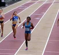 La ecuatoriana Ángela Tenorio no pudo meterse en las semifinales de la prueba 100 metros planos.