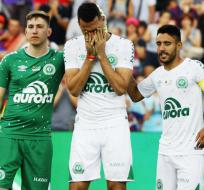 Jackson Follmann, Helio Neto y Alan Ruschel estuvieron presentes en el Camp Nou.