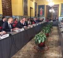 LIMA, Perú.- Cancilleres y representantes de 17 países de América evalúan una posible condena a Venezuela. Foto: Twitter Cancillería peruana