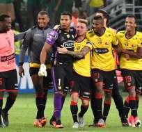 En próxima fase, los canarios enfrentarán a ganador del cotejo Santos-Atlético Paranaense. Foto: AFP.