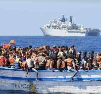 """""""Traficantes deliberadamente arrojaron al agua a los migrantes"""", según OIM. Foto: Archivo / AFP"""