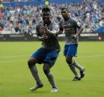 El delantero Marlon De Jesús podría comandar el ataque de Emelec ante San Lorenzo.