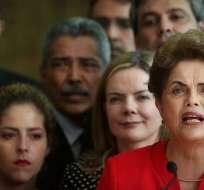Rousseff dijo que el proceso de impeachment que la había sacado de la presidencia de Brasil había sido un golpe de Estado.