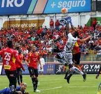 Delfín y Deportivo Cuenca empataron en el estadio Alejandro Serrano Aguilar.