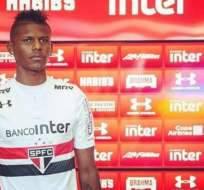 El ecuatoriano Robert Arboleda marcó nuevamente con la camiseta del Sao Paulo.