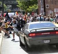 Disturbios en Charlottesville dejaron un muerto y 19 heridos. Foto: Archivo